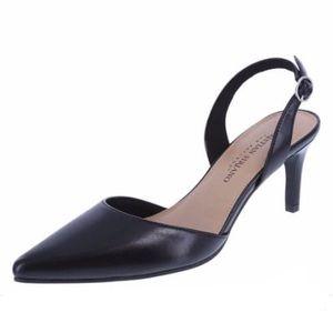Christian Siriano Black Slingback Heel 8.5